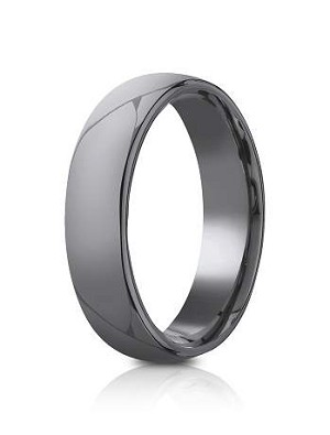Tantalum 6.5mm Domed Design Ring