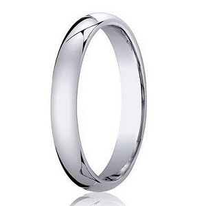 Palladium Designer  Wedding Band with Domed Profile and Polished Finish | 3mm - JB1162