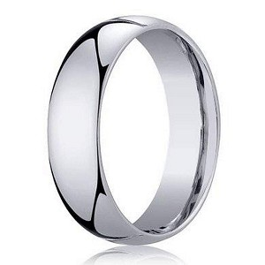 Men's 950 Platinum Designer Wedding Ring with Domed Profile | 5mm