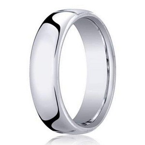 10K White Gold Heavy Fit Designer Men's Wedding Band | 5.5mm