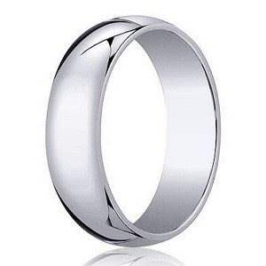 Designer 5 mm Traditional Domed Polished Finish 14K White Gold Wedding Band - JB1077