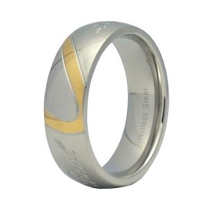 "Stainless Steel ""Real Love"" Engraved Ring"