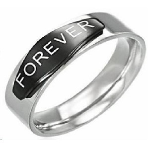 "Stainless Steel ""Forever Ring"" - JSS0018"