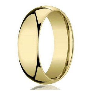 Designer 7 mm Domed Comfort-fit 10K Yellow Gold Wedding Band - JB1005