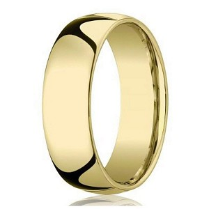 Designer 8 mm Domed Comfort-fit 10K Yellow Gold Wedding Band - JB1006