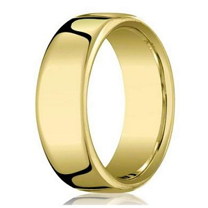 Designer Heavy Fit 14K Yellow Gold Wedding Ring for Men | 7.5mm