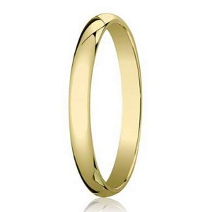 Designer 3 mm Traditional Domed Polished Finish 14K Yellow Gold Wedding Band - JB1069