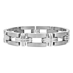 Men's Titanium Bracelet with Cross Design   - JBR1007