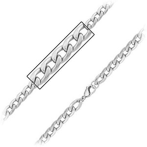 Mens Stainless Steel Curb Link Chain Necklace - JN1015