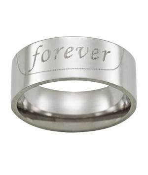 "Stainless Steel ""Forever"" Ring - JSS0050"