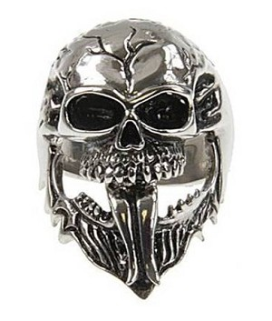 Cast Stainless Steel Skull Ring - JSS0069