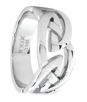 Stainless Steel Celtic Knot Ring - JSS0112