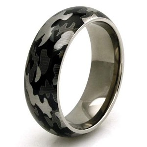 Mens Titanium Green Camo Wedding Band Justmensringscom
