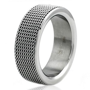 8mm Stainless Steel Chain Mesh Ring